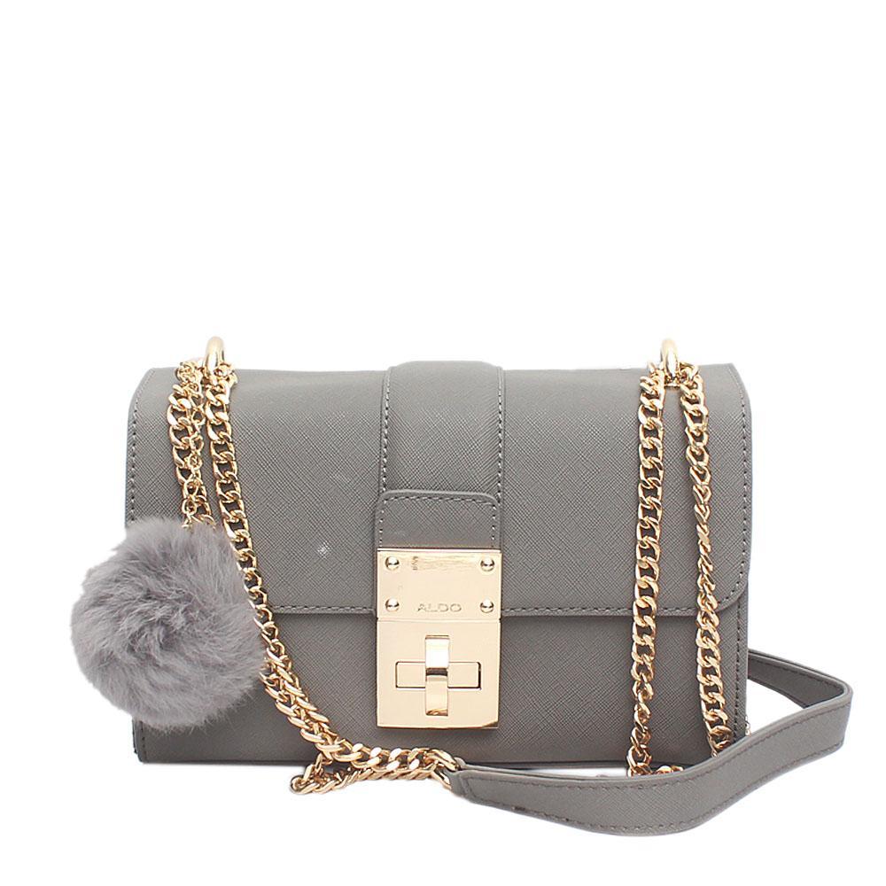 Aldo Grey Leather Small Cross Body Bag