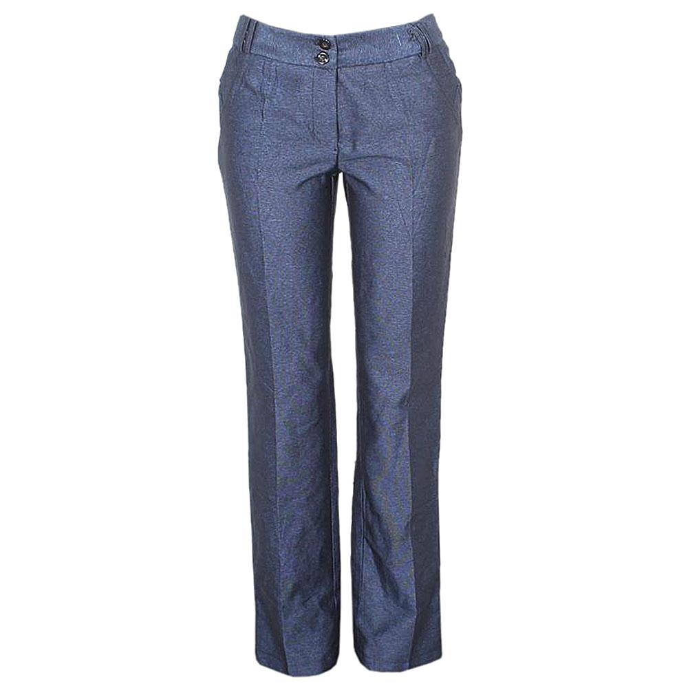 M&S Autograph Navy Fabric Ladies Pant Trousers -UK Sz 12w 41in