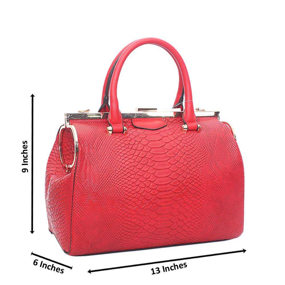 Red Precious Angel Tandy Leather Tote Handbag
