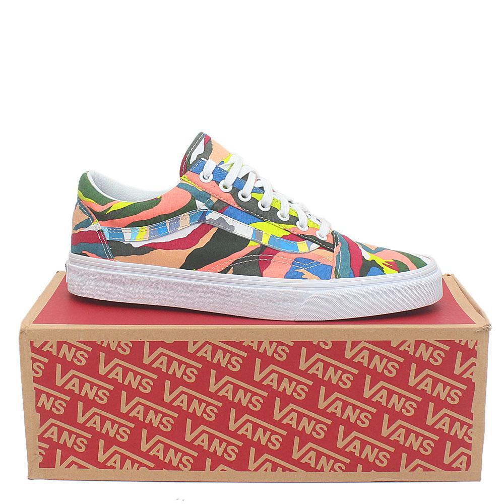 Vans Old Skool Multicolor Fabric Men Sneakers