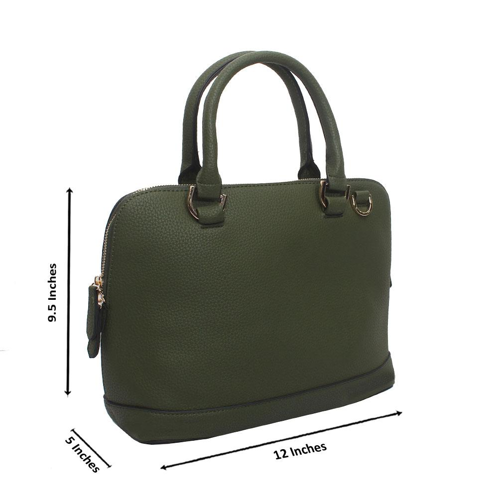 Green Leather Medium Avalon Handbag