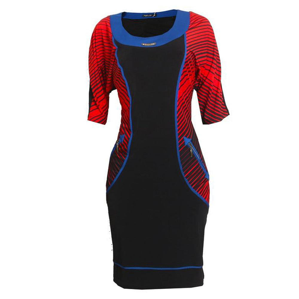 Polorco Black Red Cotton Ladies Dress-18