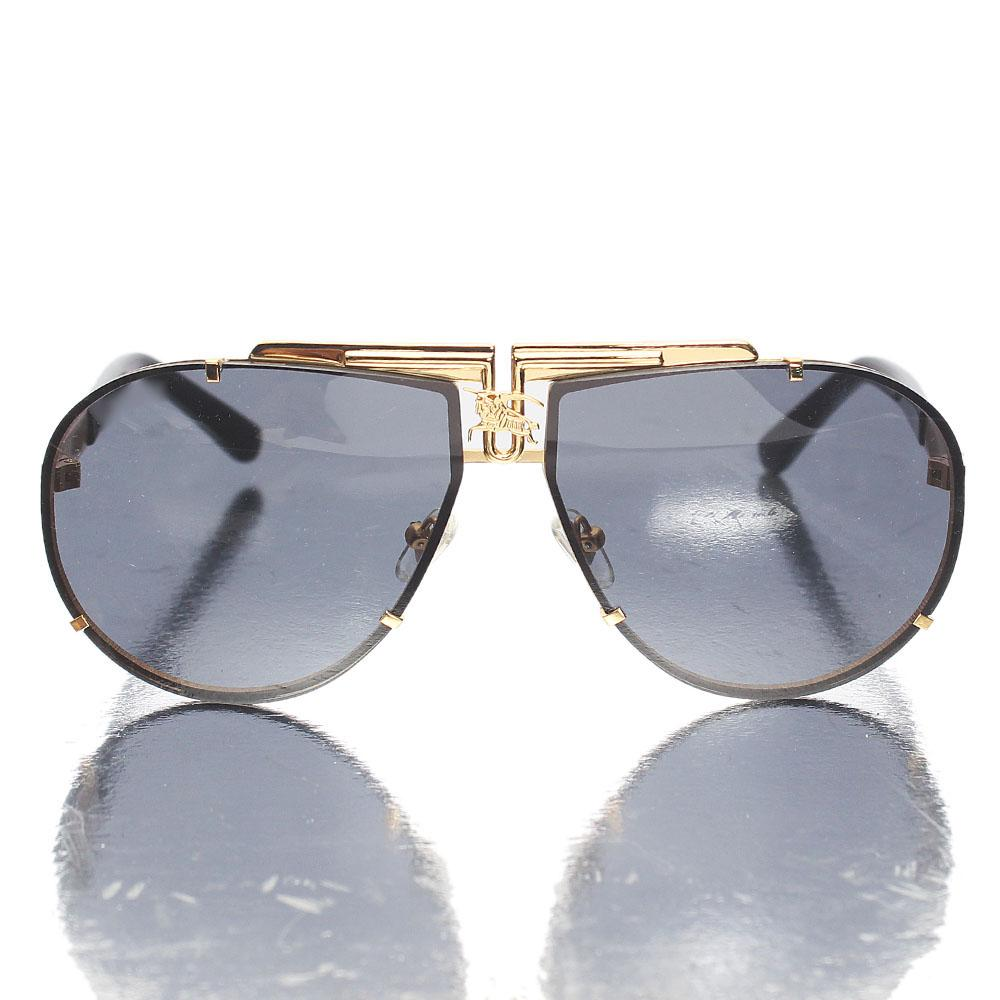 Gold Black Aviator Sunglasses