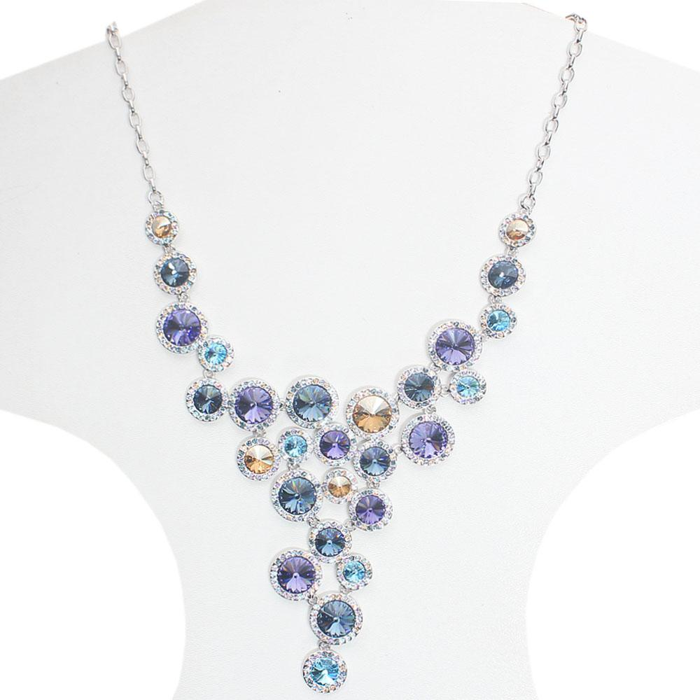 Luminious MulticolouRuby Swarovski Elements Necklace