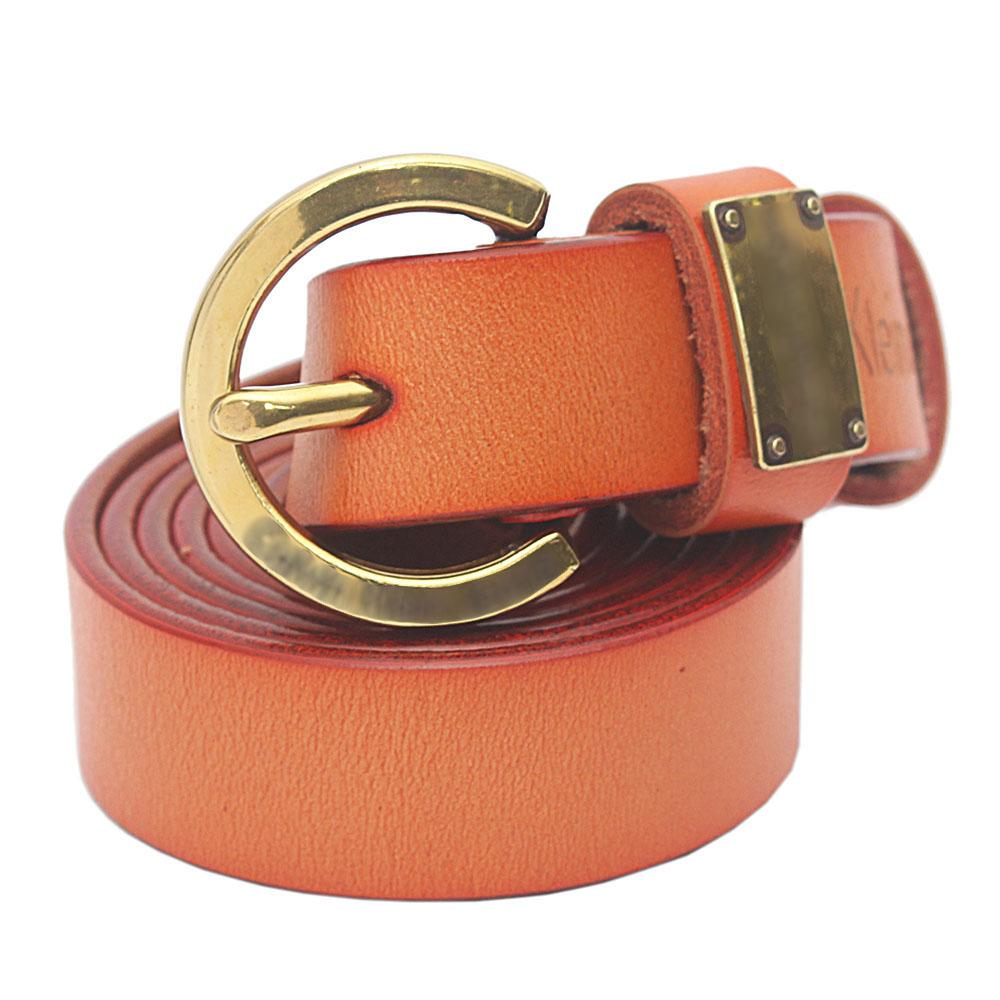 Brown Premium Leather Ladies Belt L 46 Inches