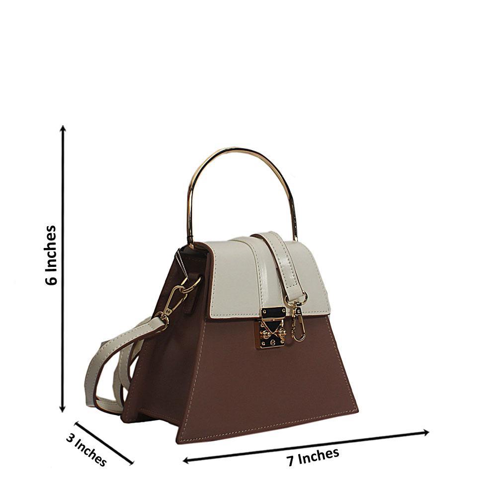 White Pink Nessa Montana Leather Mini Top Handle Handbag