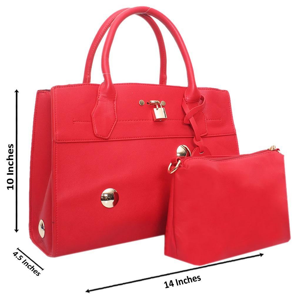 Red Leather Medium Stunning Handbag
