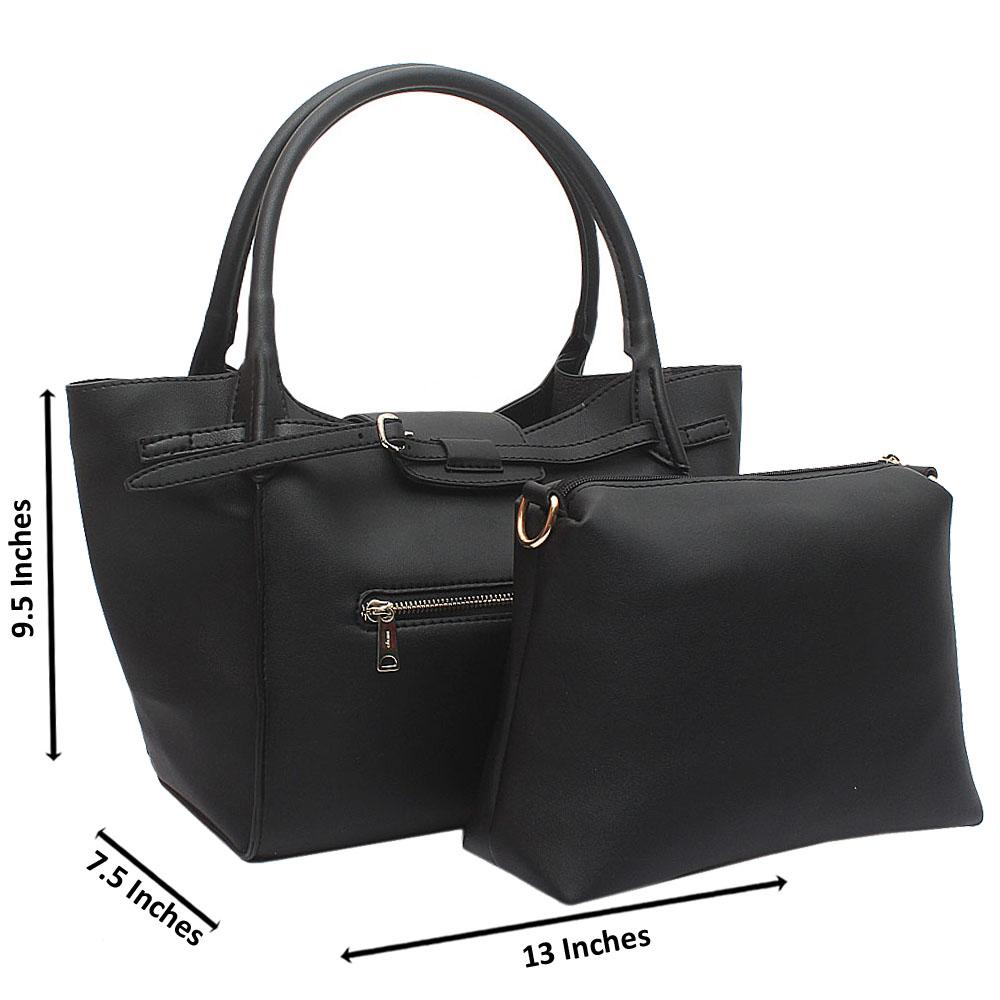 Black Beatrice Medium Leather Handbag