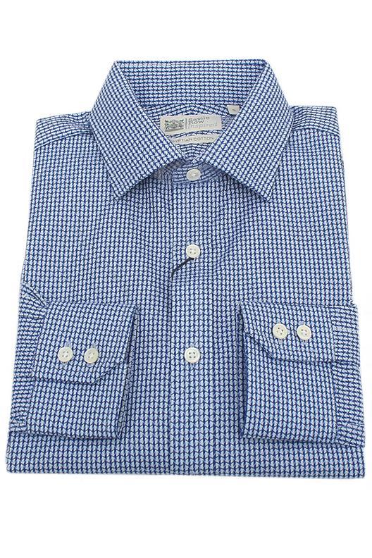 Savile Row Blue White Egyptian Cotton Men Shirt