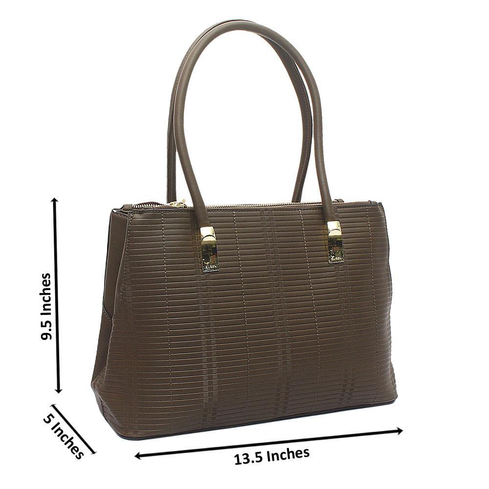 Susen Green Leather Handbag