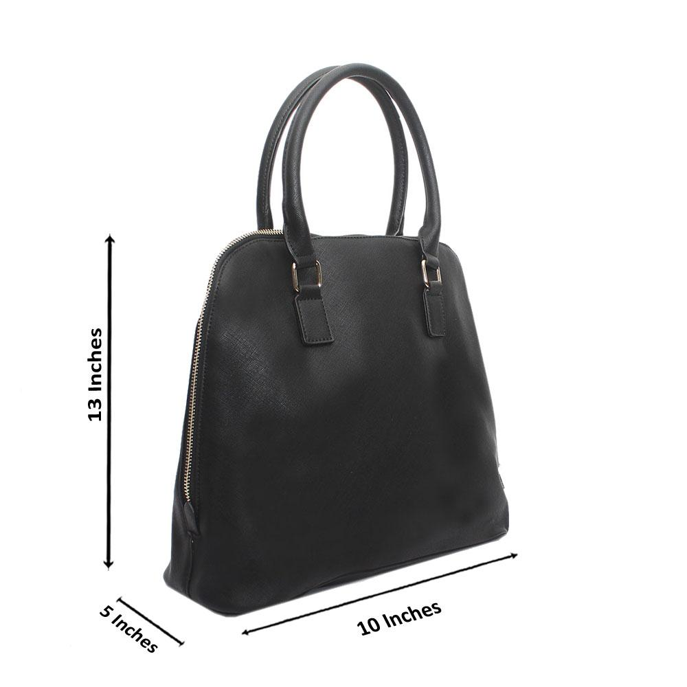 Black Leather Clara Handbag