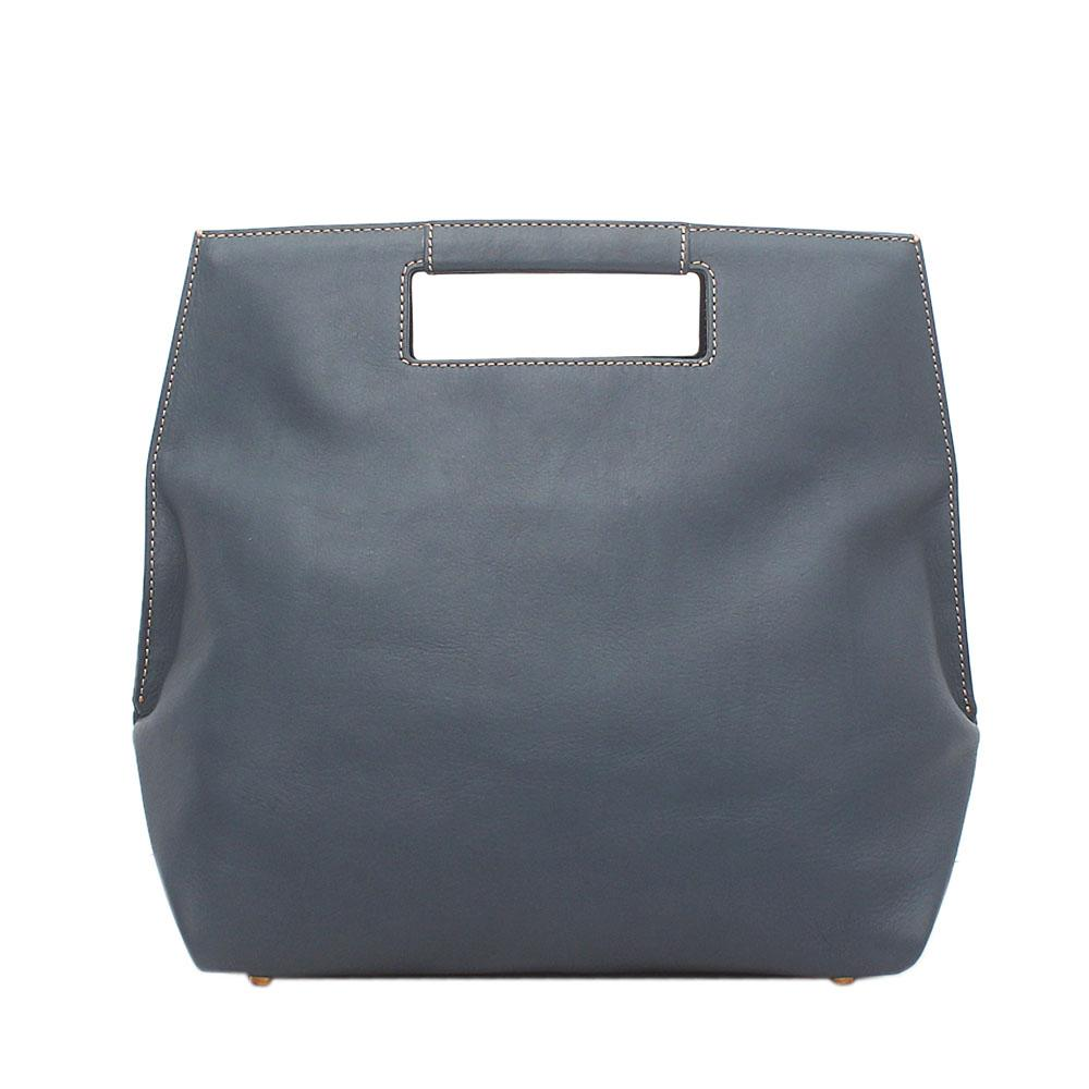 London Style Blue Saffiano Leather Handbag