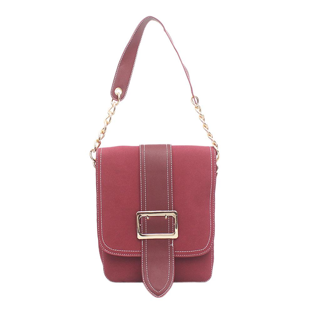 London Style Deep Wine Leather Handbag