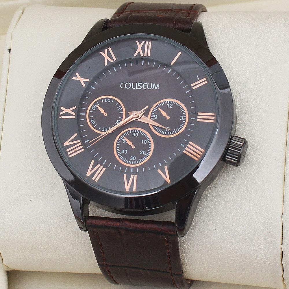 Coliseum Imperial Brown Leather Men Watch-