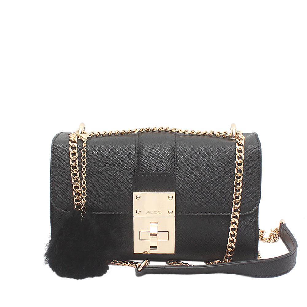 Aldo Black Leather Small Cross Body Bag