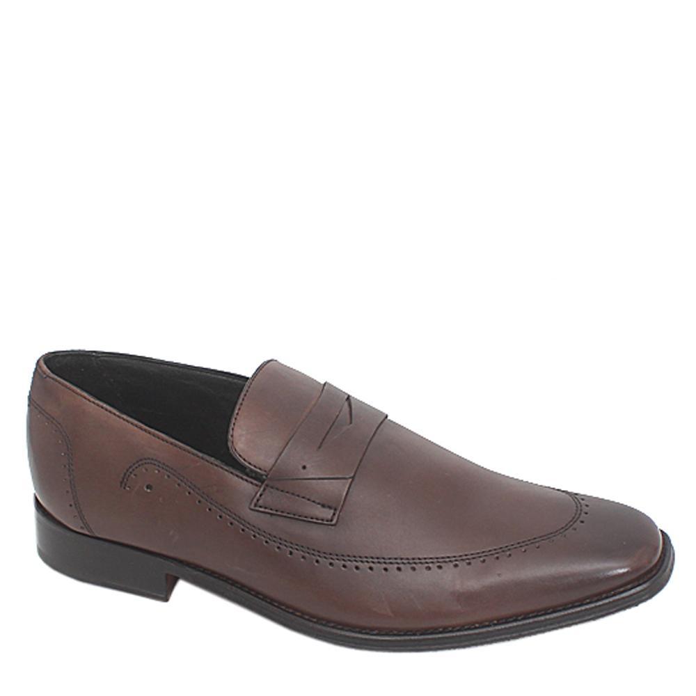 M & S Collezione Coffee Leather Men Shoe-Sz 44.5