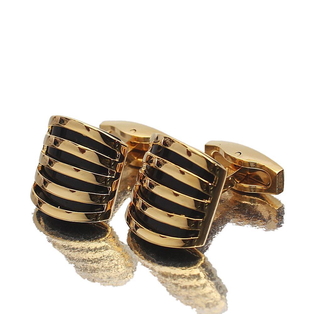 Platinum Gold Stainless Steel Cufflinks