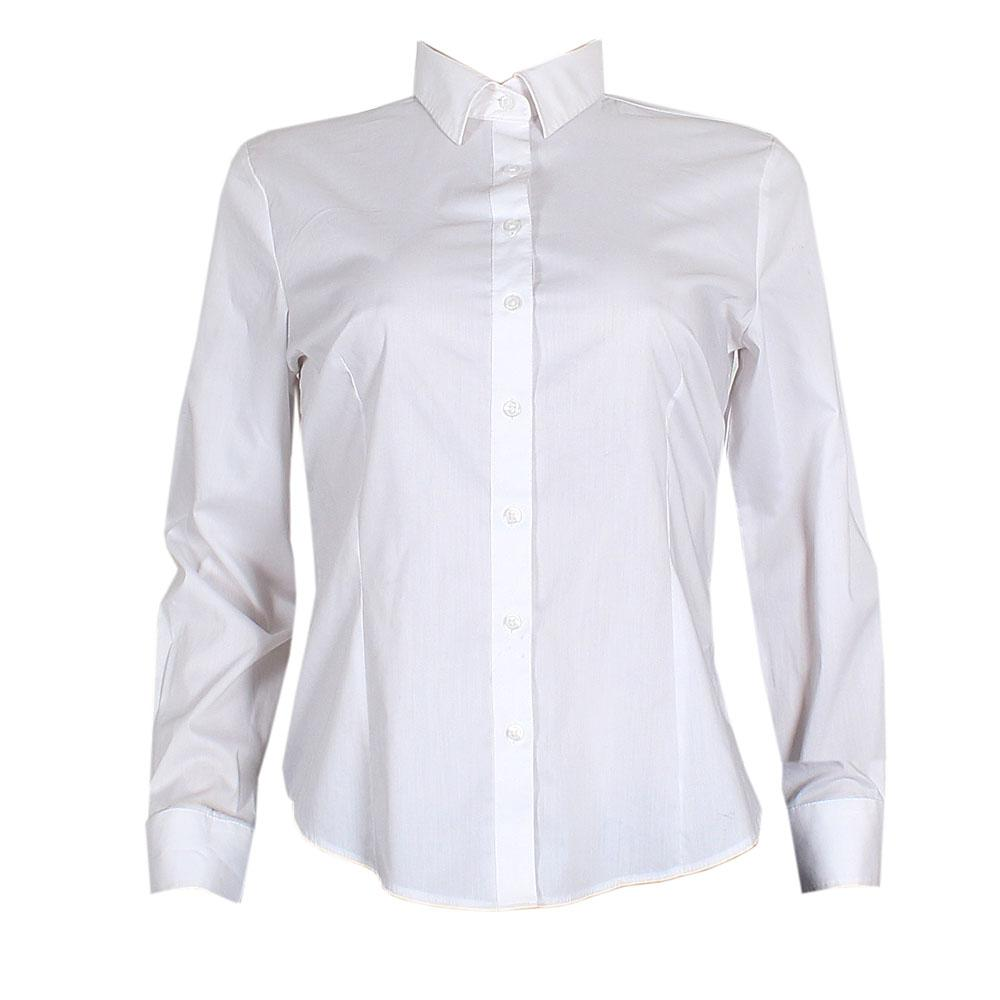 M & S Woman White Ladies L/S Shirt Sz Uk 12