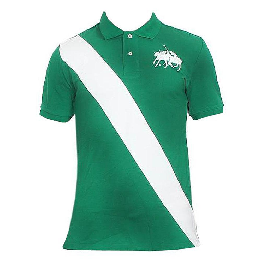 Polo Ralph Green White Men's Polo-L