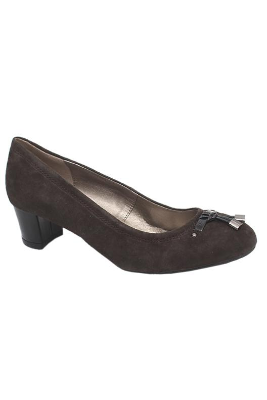 Footglove Brown Ladies Heel Shoe