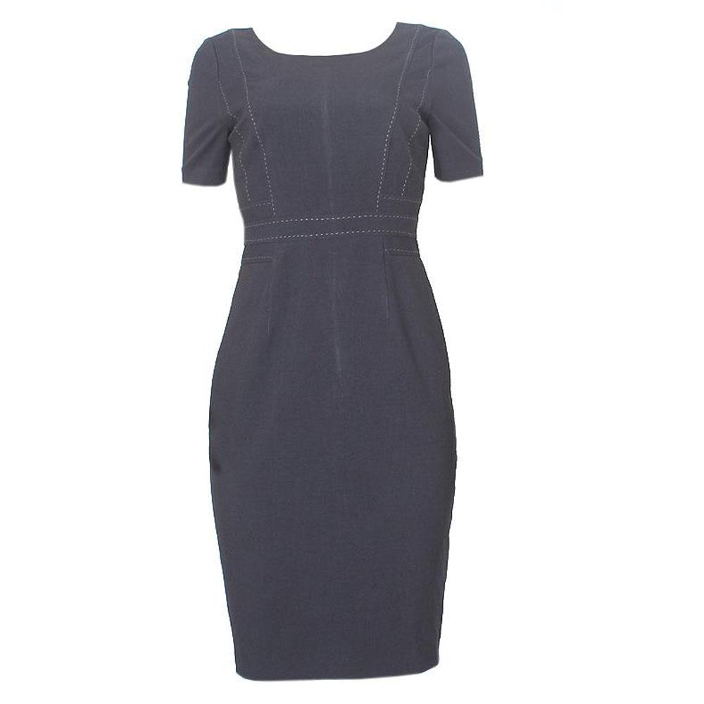 M&S Woman Black Cotton Threaded Armless Ladies Dress