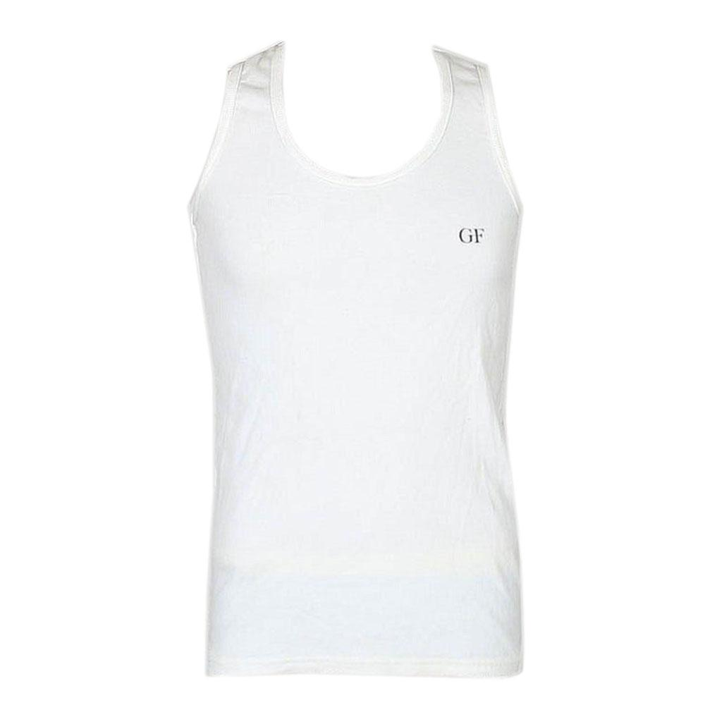 GF Ferre White Cotton Men's Vest