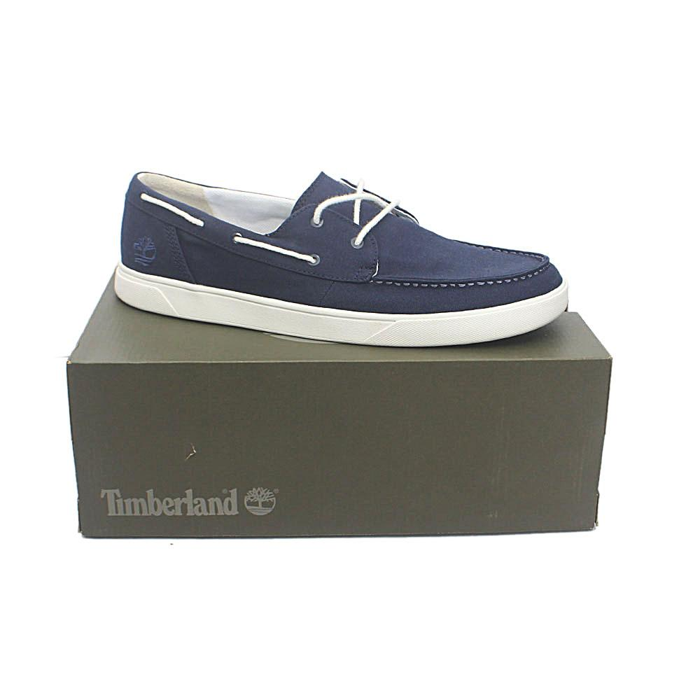 Timberland Hommes Blue Fabric Sneakers