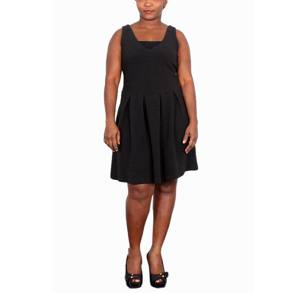Stella Morgan Black Sleeveless Cotton Dress