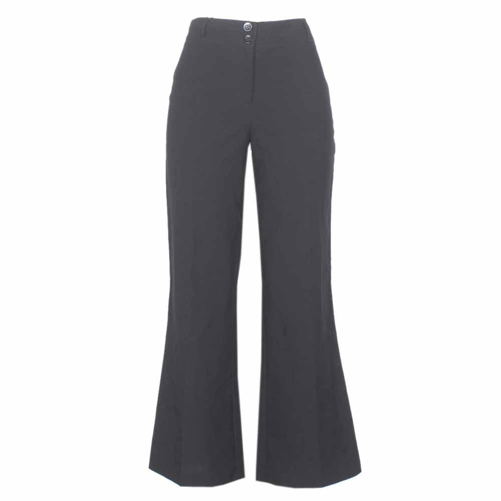 Papaya Black Cotton Ladies Bootcut Trouser-W 32 L 39