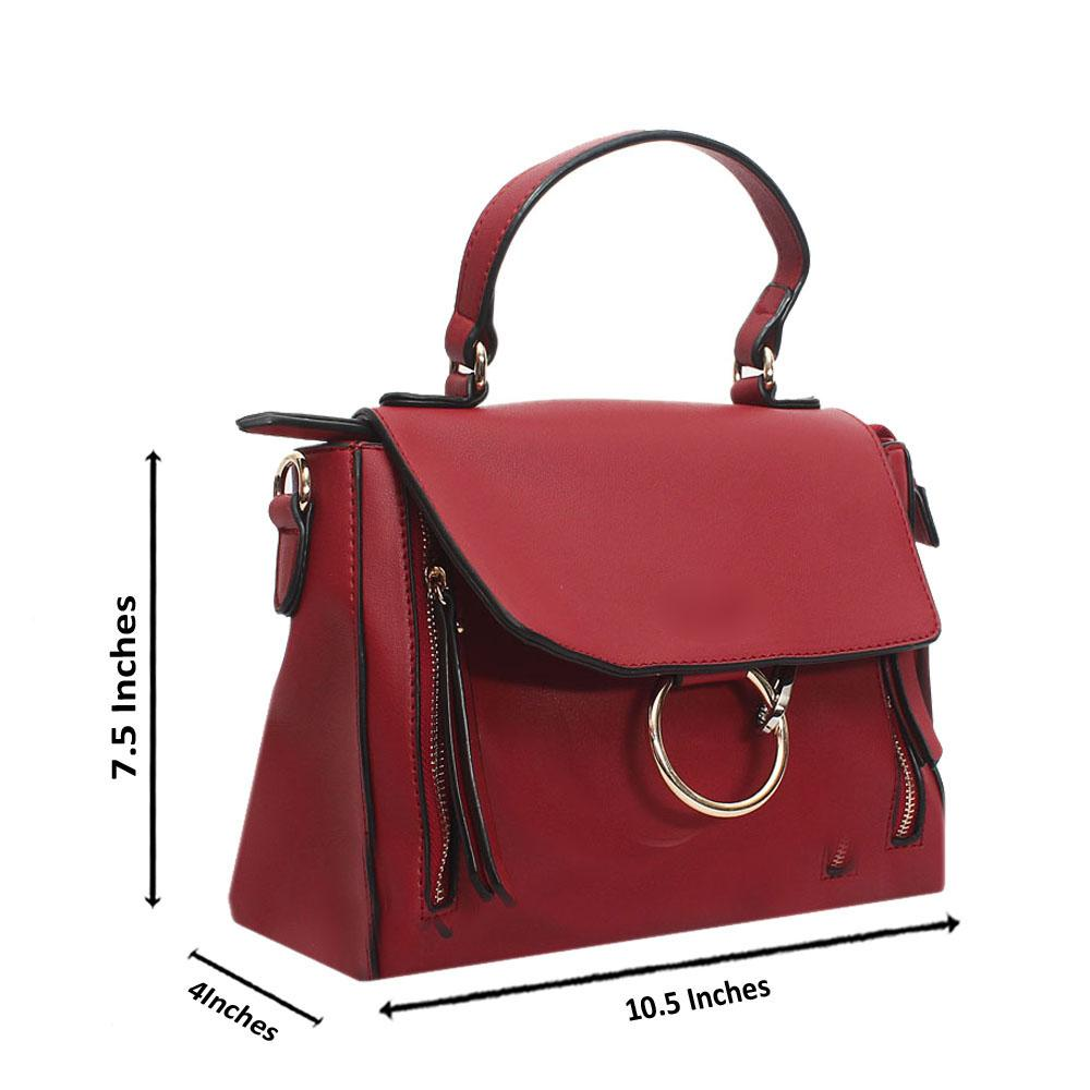 Red Leather Small Faye Day Bag