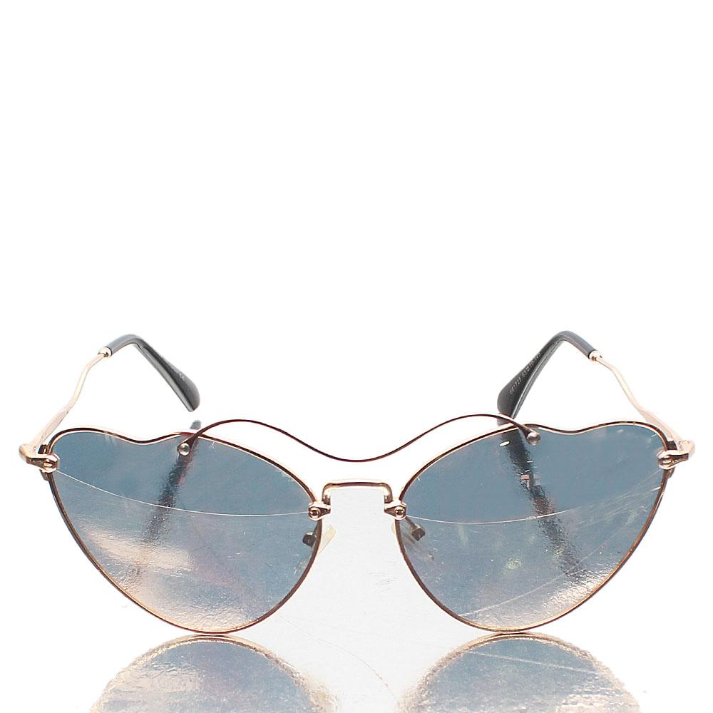 Rose Gold Polarized Lens Cat-Eye Sunglasses