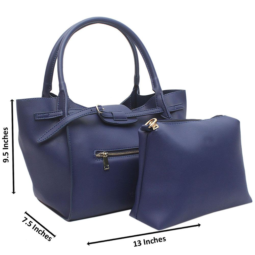 Blue Beatrice Medium Leather Handbag