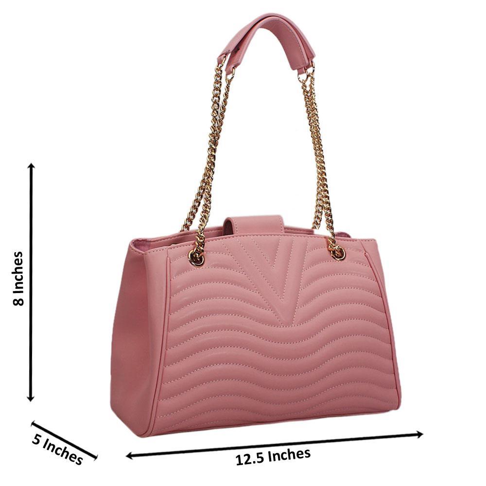 Pink  New Wave Chain Shoulder Handbag