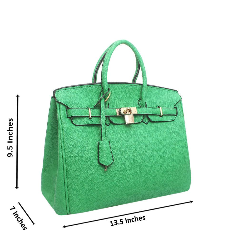 Green Leather Mate Birkin Bag