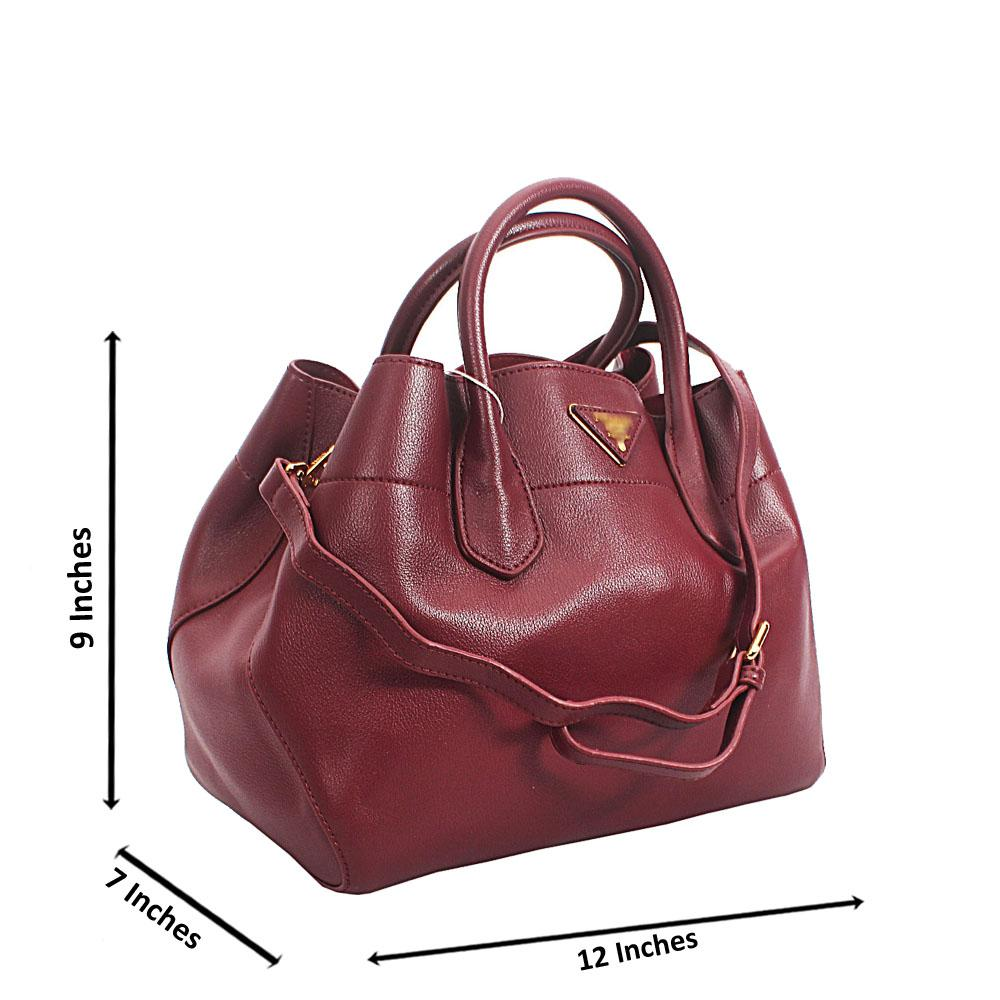 Wine Shani Tuscany Leather Tote Handbag