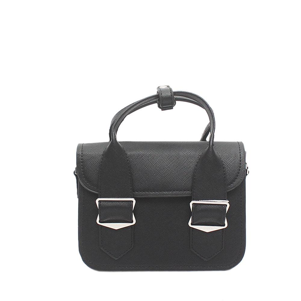 Pirate Black Leather Mini Handbag