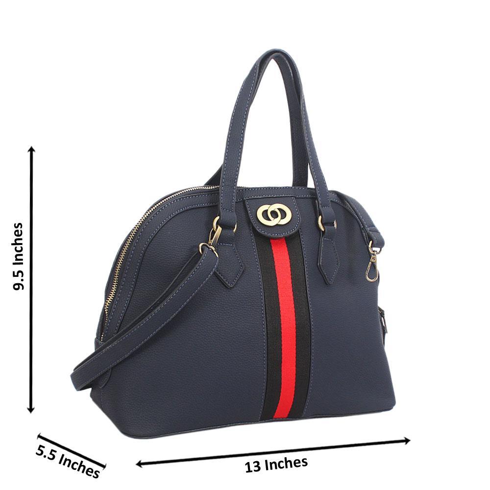 Navy Diane Leather Tote Handbag