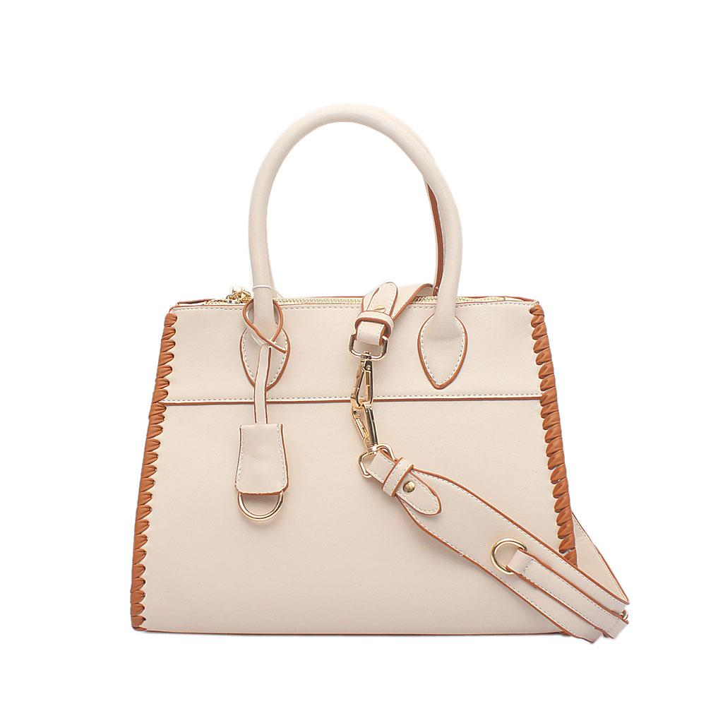London Style Swift Barbie Beige Leather Tote Bag