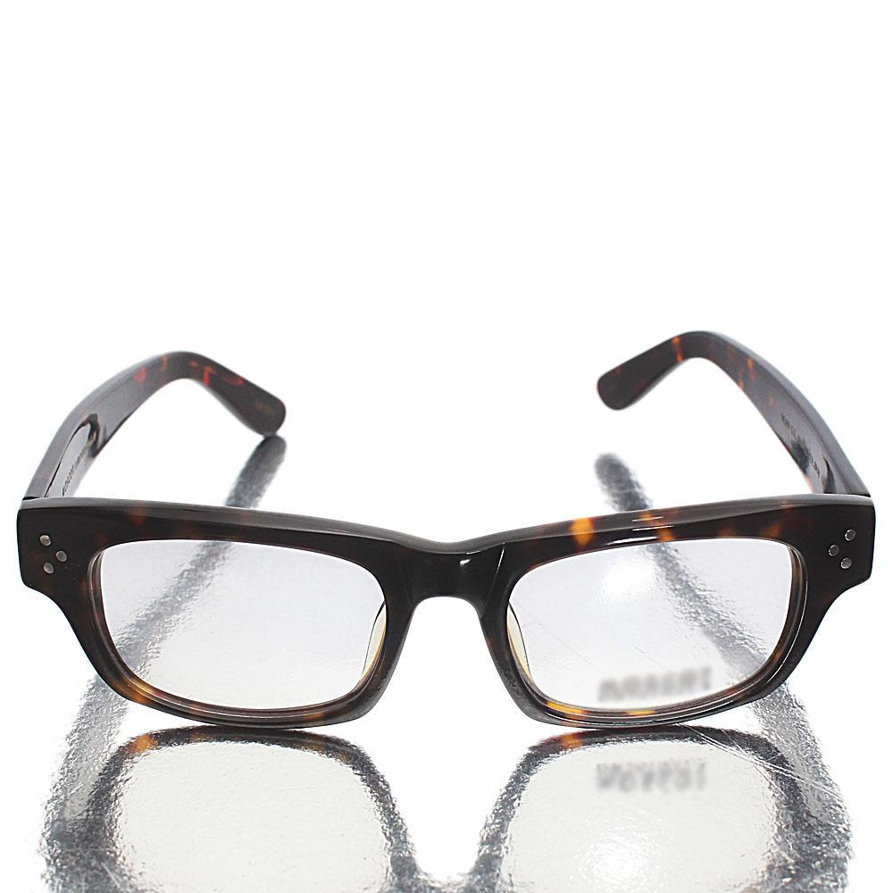 Brown Retro Square Transparent Lens Glasses