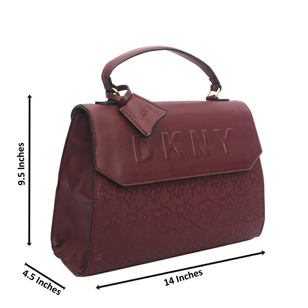 Wine Leather Handbag Wt Minor Peeling
