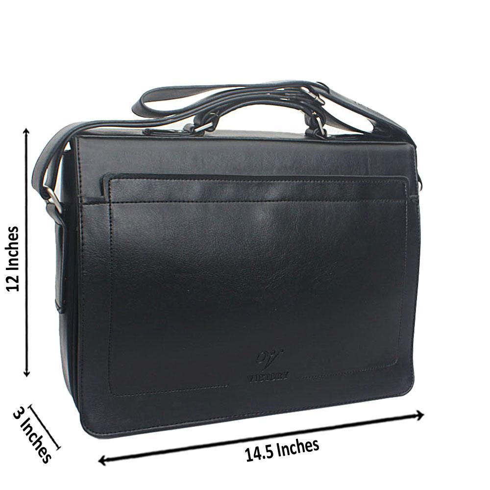 Black Flip Messenger Bag