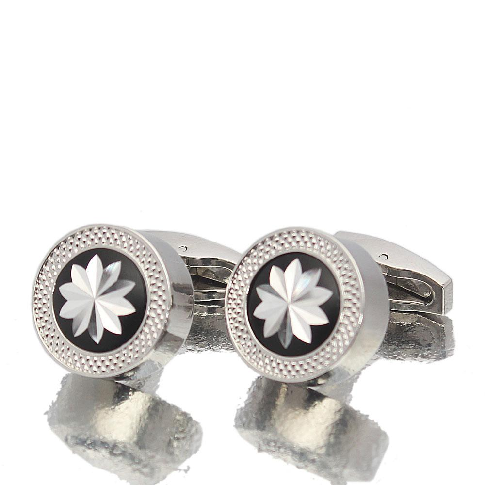Silver Crafted Stainless Steel Cufflinks