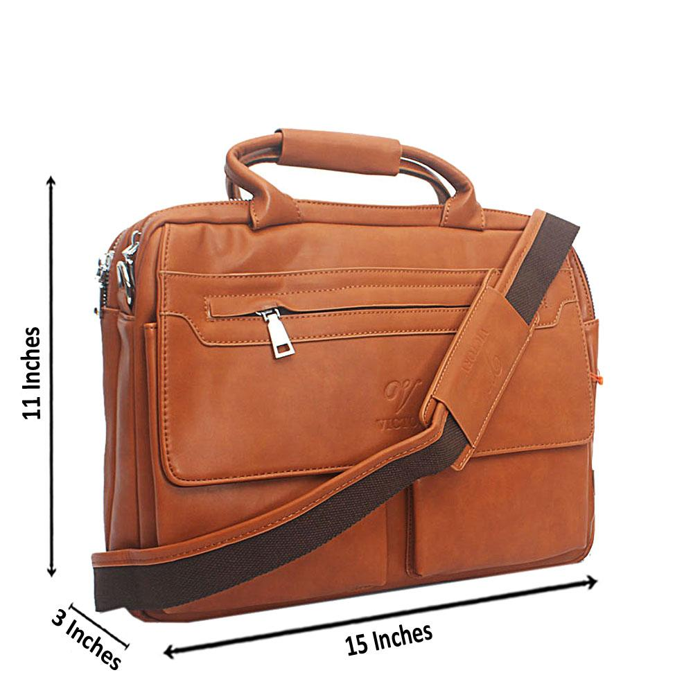 Brown Virtigo Vintage Leather Man Bag