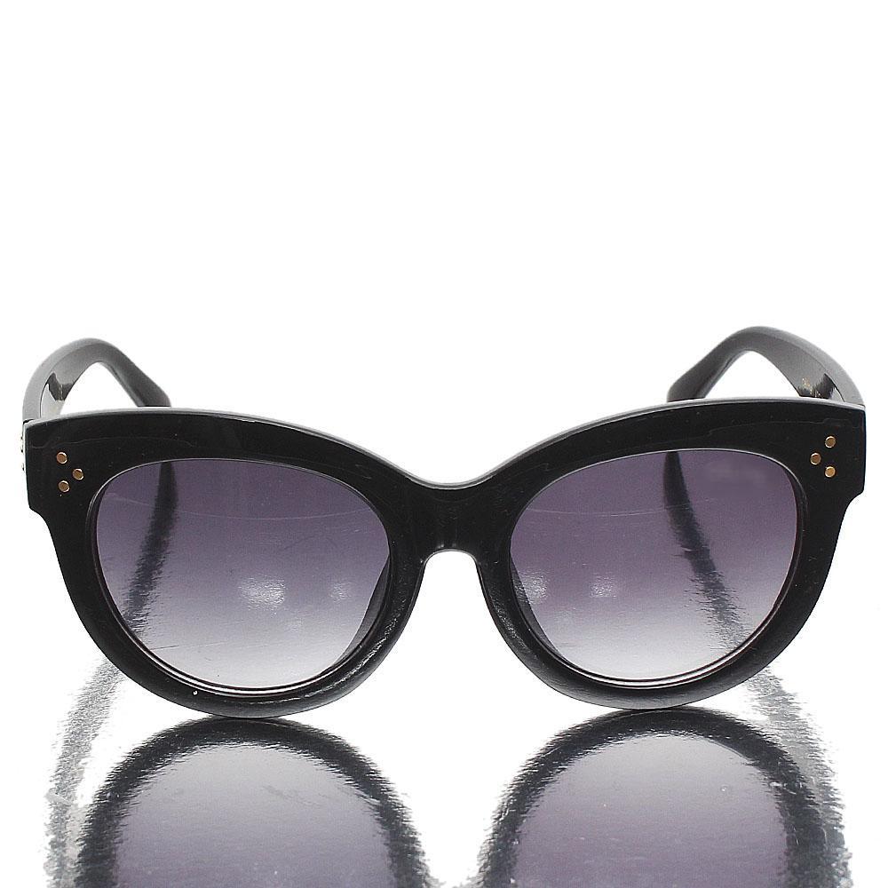 Black Round Face Dark Lens Sunglasses