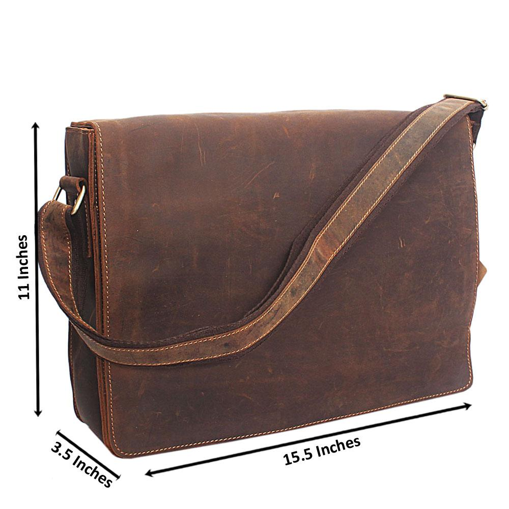 Brown-Flip-Hand-Made-Leather-Messenger-Bag