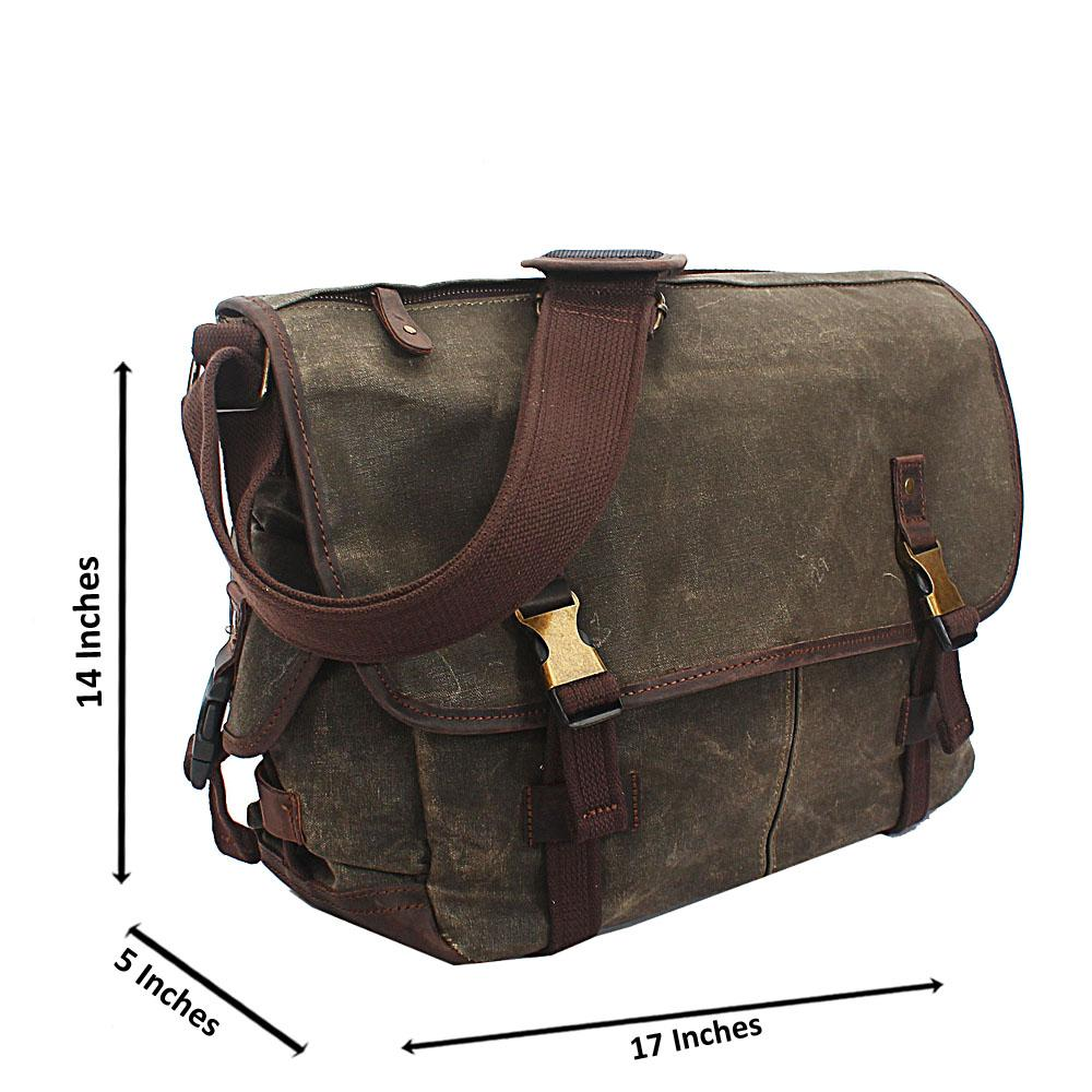 Army Green Water Proof Khaki Messenger Bag