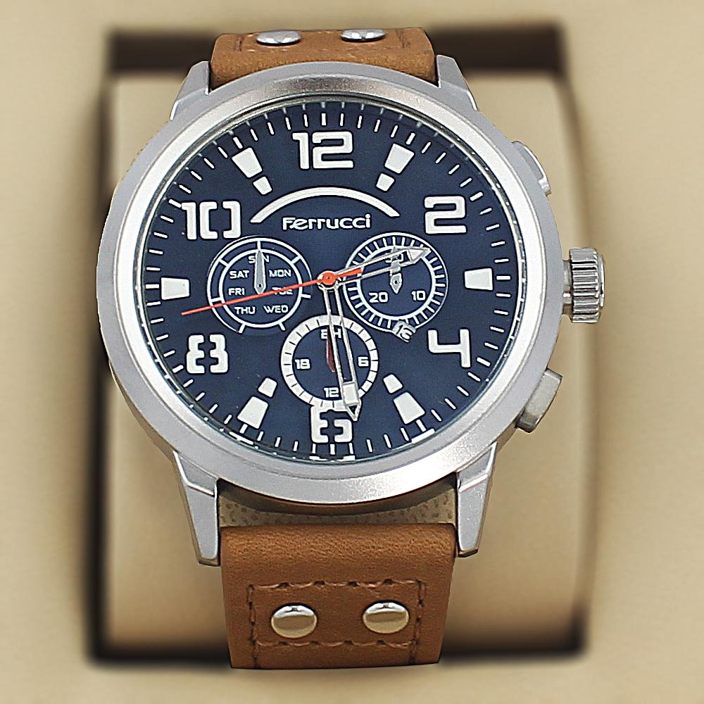 Ferrucci Faust Brown Leather Sport Series Watch