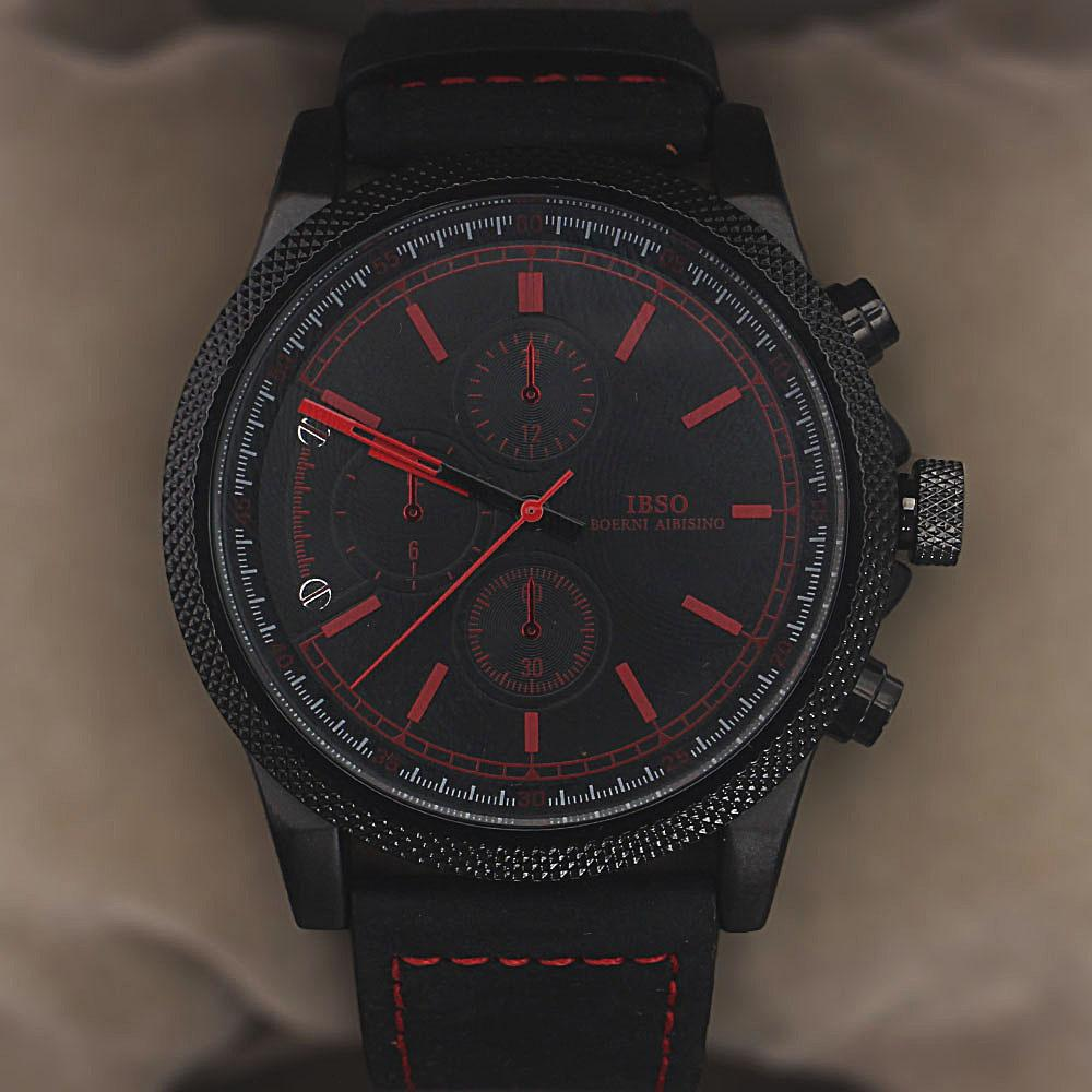 Legend Black Red Leather Watch