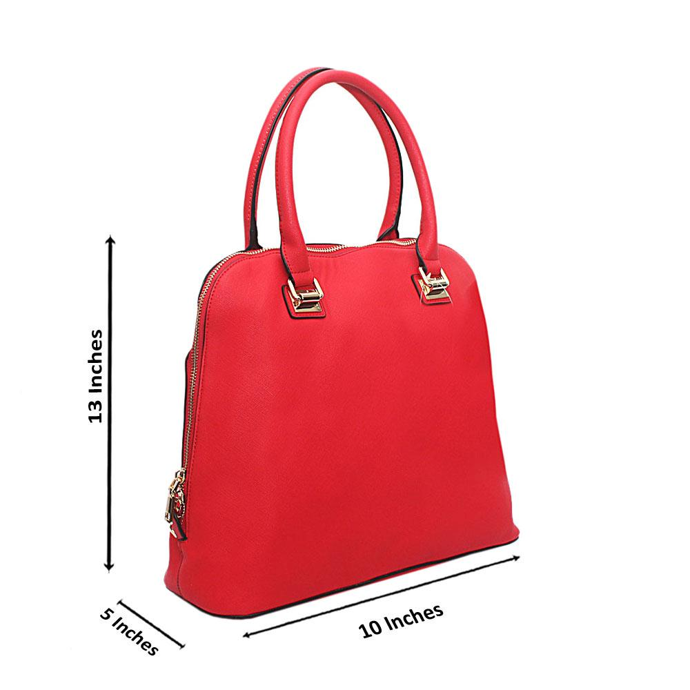 Red Leather Clara Tote Handbag
