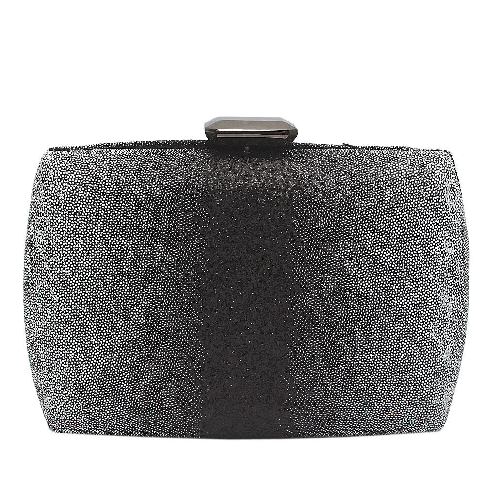 Black Ice Shimmering Clutch Purse